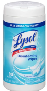 Illustration of Lysol Disenfecting Wipes 80ct. Crisp Linen