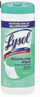 Illustration of Lysol Disenfecting Wipes 35ct. Citrus Scent