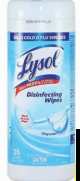 Illustration of Lysol Disenfecting Wipes 35ct. Crisp Linen
