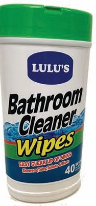 Illustration of Lulu's Bathroom Cleaner Wipes 40ct.