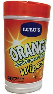 Illustration of Lulu's Orange Cleaner Wipes 40ct.