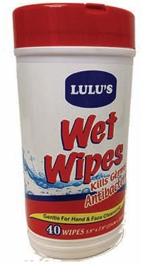 Illustration of Lulu's Antibacterial Cleaner Wipes 40ct.