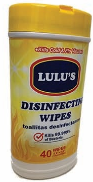 Illustration of Lulu's Disinfecting Cleaner Wipes 40ct.