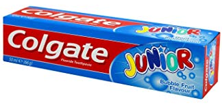 Product Illustration of Colgate Toothpaste 2.7oz bubble fruit junior