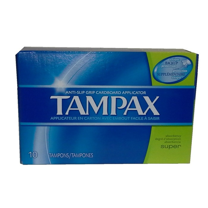 Product Illustration of Tampax 10's Super