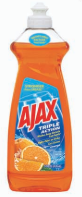 Illustration of Ajax Dish Liquid 14oz Orange