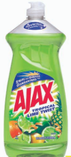 Illustration of Ajax Dish Liquid 28oz Lime