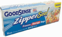 Illustration of Good Sense Zipper Seal Pint Freezer & Storage Bag 16ct