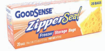 Illustration of Good Sense Zipper Seal Pint Freezer & Storage Bag 20ct