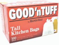 Illustration of Good N' Tuff Tall 13 Gallon Kitchen Bag 100ct
