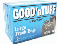 Illustration of Good N' Tuff  30 Gallon Trash Bag 60ct