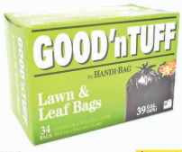 Illustration of Good N' Tuff 39 Gallon Lawn & Leaf Trash Bag 34ct
