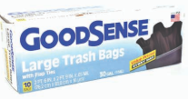 Product Illustration of Goodsense Trash Bag 30 Gallon Trash Bag 10ct.