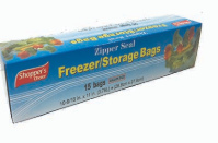 Illustration of Shopper's Choice Zipper Seal Gallon Bag 15ct