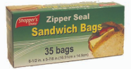 Illustration of Shopper's Choice Sandwich Bag 35ct
