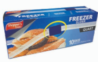 Product Illustration of Shopper's Choice Quart Freezer Bag 10ct