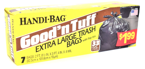Illustration of Handi Bag Good N' Tuff Garbage Bags 33 Gallon 7ct.