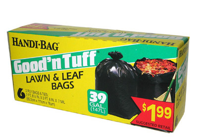 Illustration of Handi Bag Good N' Tuff Lawn & Leaf Bags 39 Galloon 6ct.