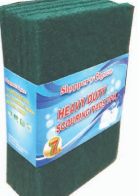 Illustration of Shopper's Choice 7pk Green Scouring Pads