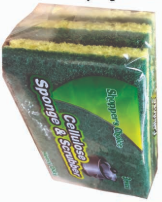 Illustration of Shopper's Choice 3pk Heavy Duty Cellulose Sponge