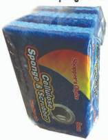 Illustration of Shopper's Choice 3pk Non Scratch Cellulose Sponge