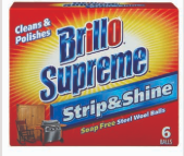 Illustration of Brillo Soap Free Steel Wool Pads 6ct Stripe & Shine