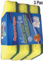 Illustration of Shopper's Choice 3pk Heavy Duty Scourer