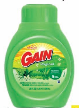 Illustration of Gain Liquid Laundry Detergent 25oz.