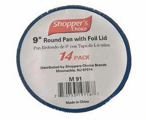 "Illustration of 9"" round with board lid 14 pk"