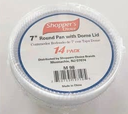"Illustration of 7"" round with dome lid 14 pk"