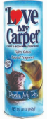 Illustration of Love my carpet powder 14oz  - pardon my pet