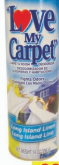 Illustration of Love my carpet powder 14oz  - long island linen