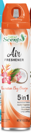 Illustration of Great Scents Air Freshner - Hawaiian Breeze