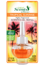 Illustration of Great Scents Plug In Air Freshner Tropical Sunrise
