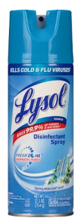 Illustration of Lysol Disinfecting Spray 12.5 oz. Spring Waterfall