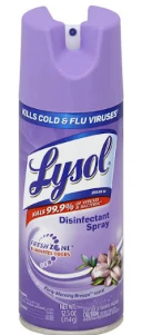 Illustration of Lysol Disinfecting Spray 12.5 oz. Early Morning Breeze