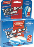 Illustration of Shopper's Choice 2pk bowl Cleaner Blue & Bleach